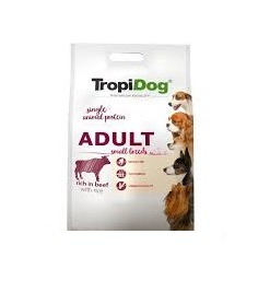 TROPIDOG PREMIUM ADULT SMALL BREEDS- RICH IN BEEF 2,5kg