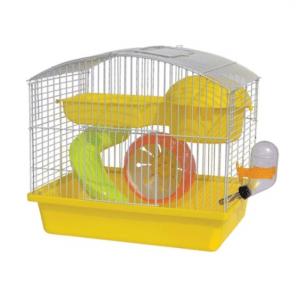 Panama Pet - Klatka z wyposażeniem dla gryzoni 27x20,5x25,5cm Żółta