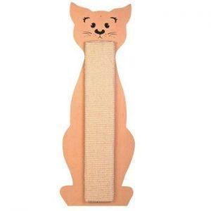 Drapak w kształcie kota z sizalową deską do gryzienia i drapania