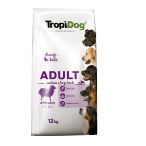 TROPIDOG PREMIUM ADULT MEDIUM & LARGE - LAMB & RICE 12KG