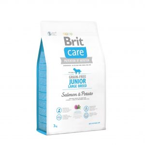 BRIT CARE JUNIOR LARGE BREED Salmon&Potato 3 kg
