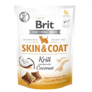 BRIT CARE DOG FUNCTIONAL SNACK SKIN&COAT KRILL150G