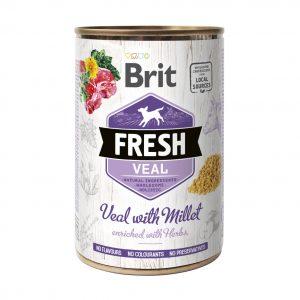 BRIT FRESH VEAL&MILLET 400g