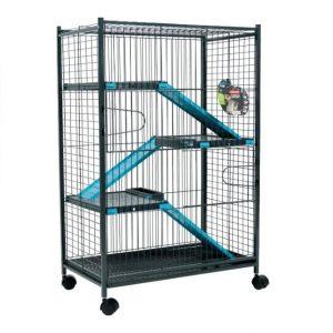 Zolux Klatka Indoor Max Loft 2 szaro-niebieska