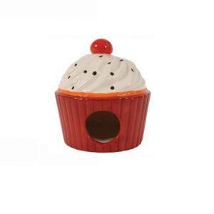 Domek ceramiczny Ciastko czerwony