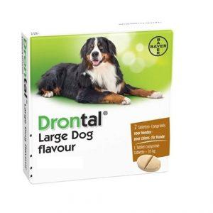 BAYER Drontal PLUS FLAVOUR dla psów pow.35kg 2tabl