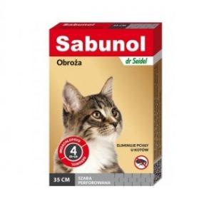 Sabunol Obroża przeciw pchłom dla kota szara 35cm