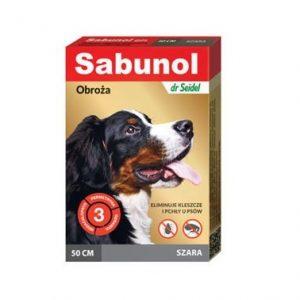 Sabunol szara obroża przeciw pchłom i kleszczom dla psa 50 cm
