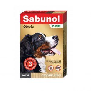 Sabunol - Obroża ozdobna złota 50cm
