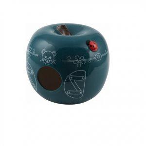 Domek ceramiczny Jabłko niebieski