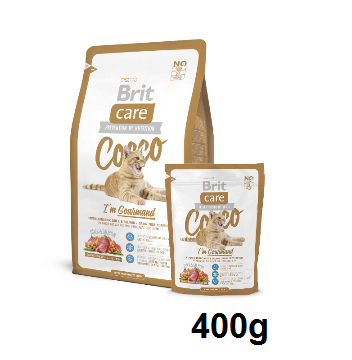 BRIT CARE CAT COOCO I'AM GOURMAND 400g