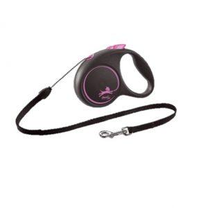 Flexi Black Design Linka M 5m Czarno- różowa