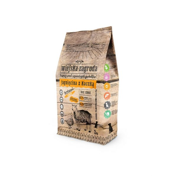 Wiejska Zagroda jagnięcina z kaczką dla psa 2kg
