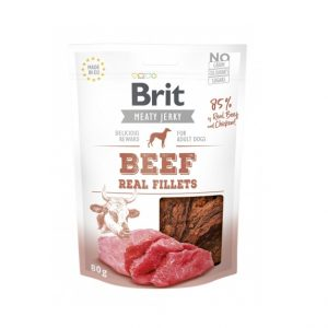 Brit Jerky Beef Real Fillets 80g