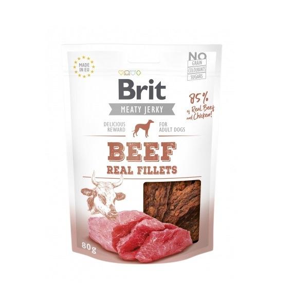 Brit Jerky Beef Real Fillets 80g