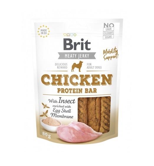 Brit Jerky Chicken Protein Bar 80g
